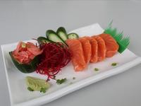 Sashimi de salmón (5 piezas)