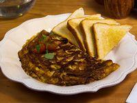 Menú - Omelette con queso, champignon, orégano y tomates cherry