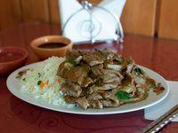 Colación B - Arroz chaufan + carne mongoliana