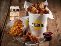 Crispy Wings x 6 Piezas + 1 BBC Cajicá Miel