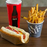 Perfect combo - Papas fritas 10 oz +  premium hot dog + soda 16 oz