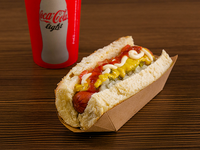 Combo hot dog - Premium dog (pan con salchicha) + soda de 16 oz