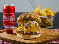 Pretty burger + acompañamiento de su elección + bebida