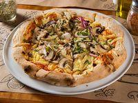 Pizza vegetales asados vegetariano y vegano