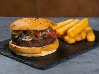 Combo - The texmex burger + acompañamiento + bebida