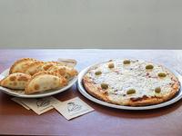Promo mix - 6 empanadas + pizza grande de muzzarella