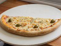 Media pizza de provolone