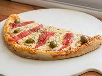 Media pizza con morrones