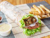 Sándwich de falafel grande