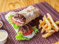Combo 3 - Sándwich de shawarma XXL + papas fritas
