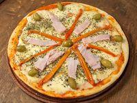 Pizza al molde jamón y morrones