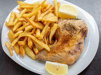 Promo - Pata y muslo de pollo (2 unidades) + papas fritas (porción gigante)