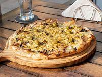 Pizza a la piedra Cebolla y curry