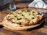 Pizza fugazzeta a la piedra