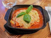 Lasagna con salsa pomodoro