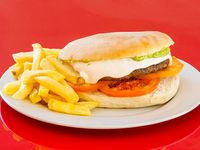 Promo - Hamburguesa casera italiana + papas fritas + bebida 350 ml
