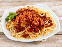 Spaguettis con salsa bolognesa