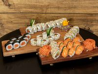 Caja combinada de salmón (54 piezas)