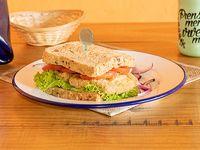 Sándwich de milanesa de calabaza o berenjena