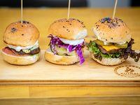 Trilogía de mini hamburguesas