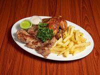 Combo R1 - 1/4 Pollo + Chuleta + Acompañamiento + Soda