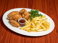 Combo R9 - Chicken wings  (5 unidades) + Acompañamiento + Soda