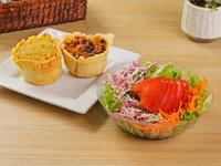 Promo - Canasta a elección + ensalada de lechuga, tomate, zanahoria y repollo