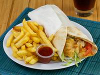 Combo - Shawarma mixto + Papas fritas + Té frio de limón