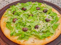 Pizza con rúcula, parmesano y muzzarella chica