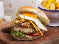 Sándwich de hamburguesa pituca