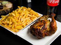 Promo - Pollo asado + papas fritas medianas + bebida 1.5 L