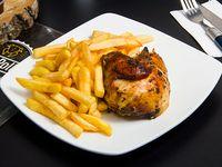 Promo - 1/4 pollo asado + papas fritas pequeñas + bebida