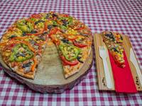 Pizza caprese estación primavera
