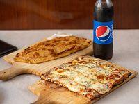 Promoción - Pizza muzzarella + Fainá + refresco Pepsi 500 ml