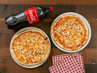 Promo - 2 pizza pollo grande + Coca Cola 2 L