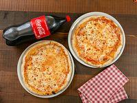 Promo - 2 pizza margarita grande + Coca Cola 2 L