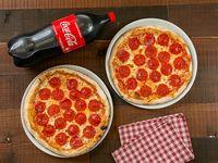 Promo - 2 pizza pepperoni o prosciutto grande + Coca Cola 2 L