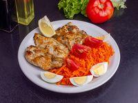 Pechuga de pollo grillé a la napolitana