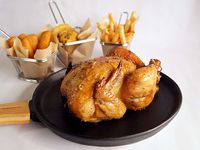 Promoción - Pollo + 3 Acompañamientos + 3 salsas