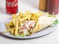 Combo - Fajita + papas fritas + bebida 350 ml