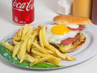 Combo - Sándwich gladiador + papas fritas naturales + bebida 350 ml