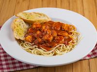 Spaghettis con camarones