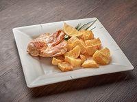 Filete de pollo con papas