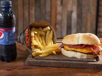 Combo - Hamburguesa Blog + papas fritas + bebida 250 ml