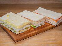 Sándwiches  de miga triples especiales (6 unidades)