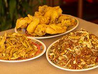 1 Caja Grande de Combinado, Arroz Chino y Chop Suey + 1 Pollo Entero