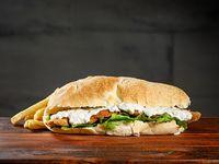 Sándwich  de milanesa al roquefort