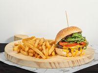 Promo - Ragnar clásica burger + papas fritas + Coca Cola 600 ml