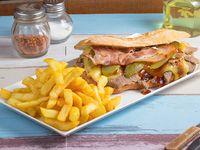 Promo - Churrasco barbecue + papas fritas chicas