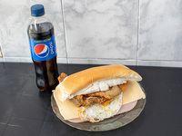 Promoción - Sándwich de milanesa completo + gaseosa línea Pepsi 500 ml